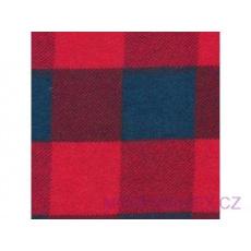 Flanelová látka červené-modrá 4x4 cm  781-1 šíře 160 cm
