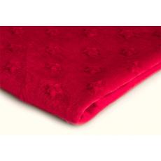 Látky mikroplyš hvězdy MINKY  barva červená 29