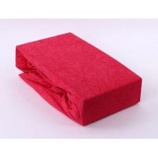 Exclusive Froté prostěradlo dvoulůžko - červená 200x220 cm