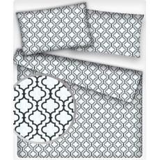 Bavlnená dekoračná látka vzor maroko biele, metráž 160 cm