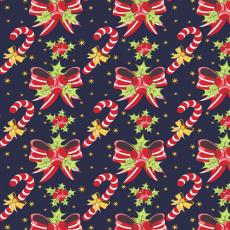 Vánoční dekoráční bavlněné látky vzor VÁNOCE 52 na granátovém