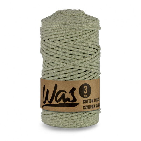 Bavlněná šňůra 3mm, 100m, OLIVÁ