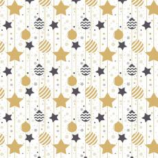 Vánoční dekorační bavlněné látky vzor VÁNOCE 29  barva béžová