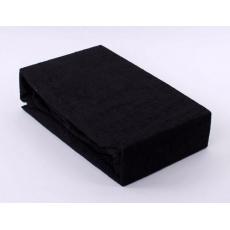 Exclusive Froté prostěradlo dvoulůžko - černá 160x200 cm