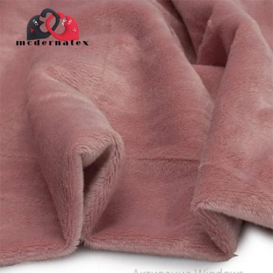 Minky mikroplyš jednobarevné barva stáro růžová