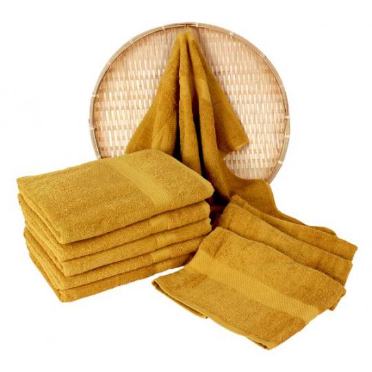 Darsi froté ručník 50x100 cm barva hořčicová