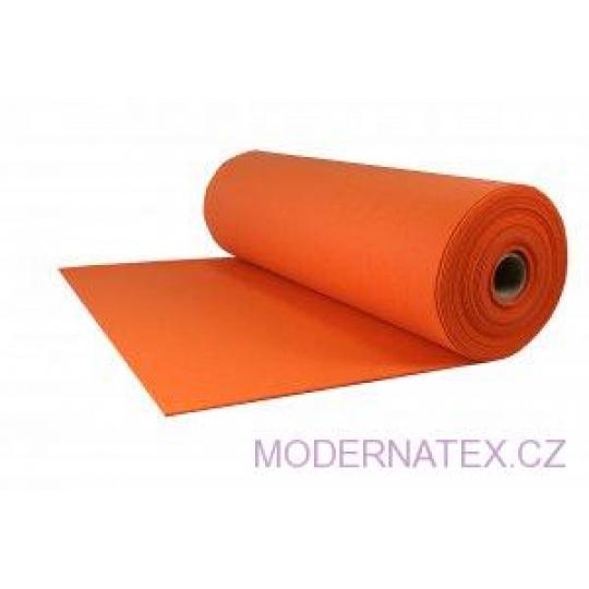 Technický filc 4 mm barva  oranžová