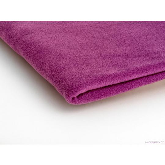 Látka Micro fleece barva amarant 24