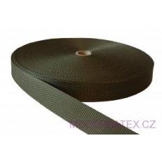Polypropylénový popruh 40 mm khaki (balení 50 m)