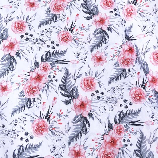 Bavlnená látka 39 vzor kvetiny, metráž 160 cm