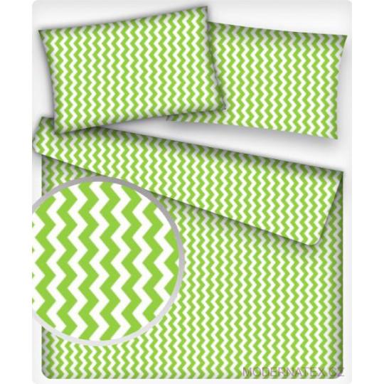 Bavlněné látky CIKCAK zelený1