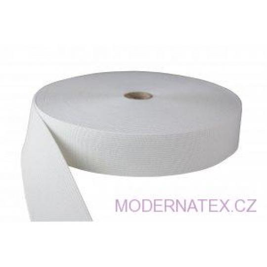 Guma  pro šití oděvu  šíře 50 mm bílá  balení 25 m