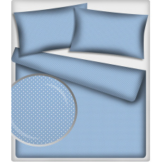 4 mm Bavlněné látky vzor Puntík na modrém