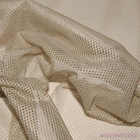 Síť polyesterová, Síťovina pro oděvů béžová - DZ-008-136  2mm x 2mm