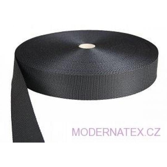 Polypropylénový popruh 40 mm černý (balení 50 m)