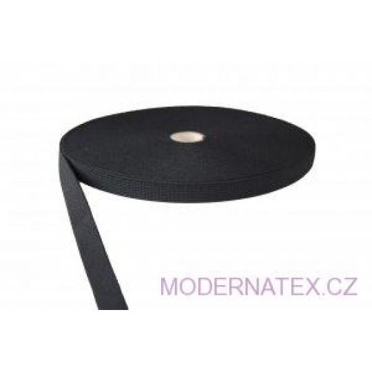 Guma  pro šití oděvu,  šíře 20 mm černá  balení 25 m