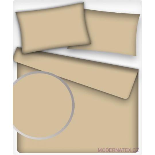 Jednobarevná bavlněná látka barva CAPUCCINO 23