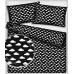 Bavlnená látka vzor mrak, farba čierna 263, metráž 160 cm