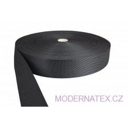 Polypropylénový popruh 50 mm černý (balení 50 m)