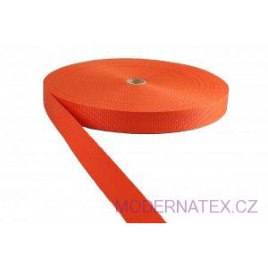 Polypropylénový popruh 30 mm pomerančový (balení 50 m)