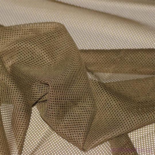 Polyesterová elastická síťovina barva olivková, oko 1x1 mm - DZ-008-108
