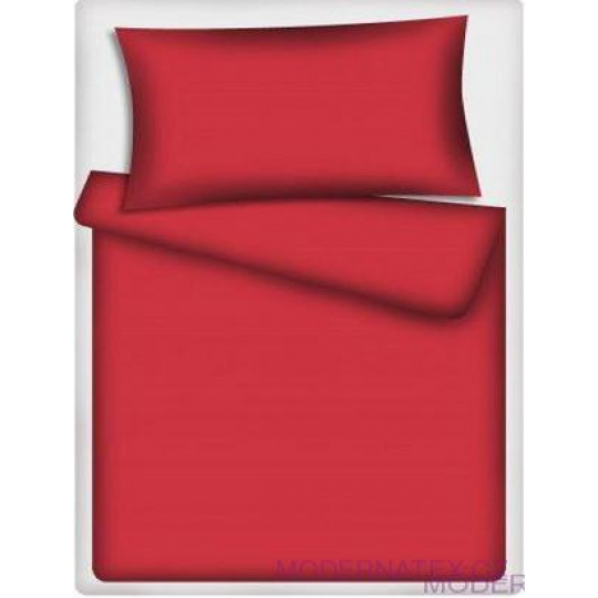 Jednobarevná bavlněná  látka červená 501-1