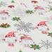 Vánoční vzory bavlněné látky, metráž 3384D