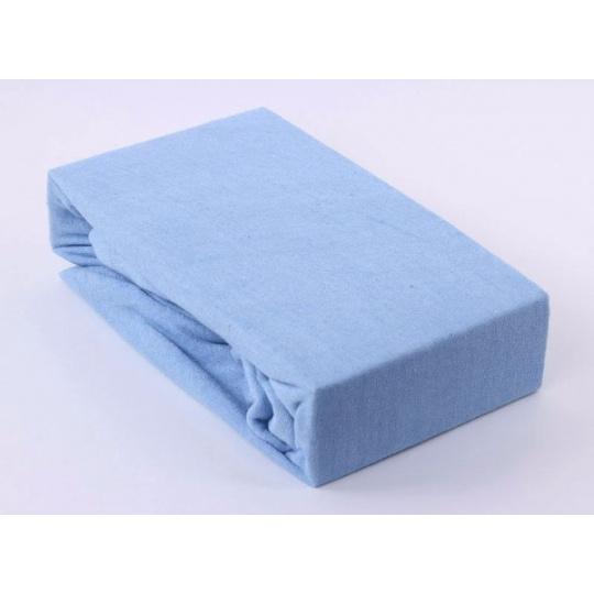 Froté prostěradlo dvoulůžko Exclusive - modrá 160x200 cm  varianta modrá světlá