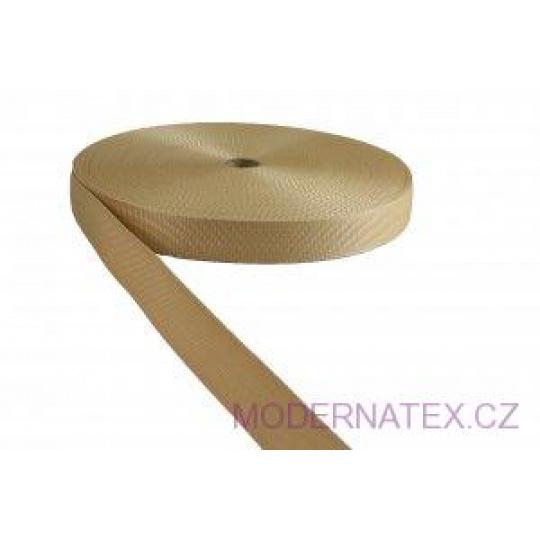 Polypropylénový popruh 30  mm béžový (balení 50 m)