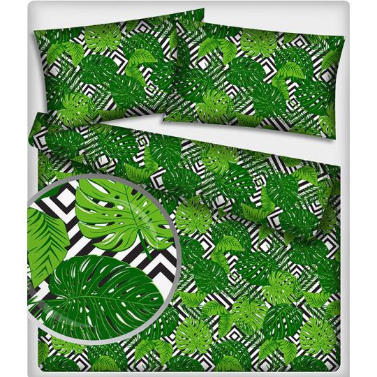 492 Bavlněné látky Listy zelené