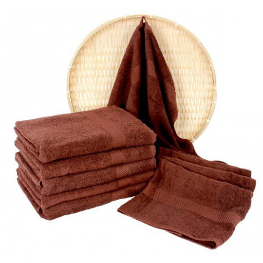 Darsi froté ručník 50x100 cm barva hnědá