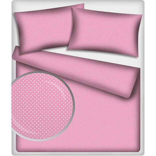 4 mm Bavlněné látky vzor Puntík  růžový podklad