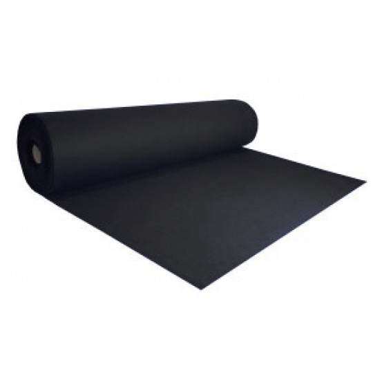 Dekorační filc 3 mm barva černá