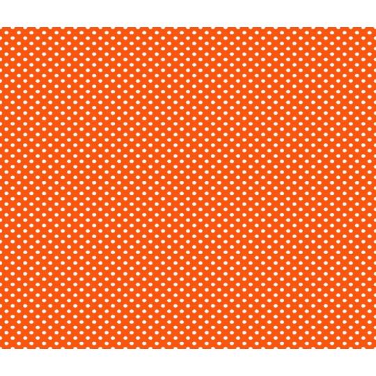 2 mm Puntík, vzor - hráškový malý, oranžová, metráž, bavlna