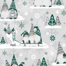 Vánoční dekorační bavlněné látky vzor VÁNOCE 25 barva zelená
