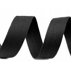 Lemovací proužek  BAVLNA 30 mm  barva černá