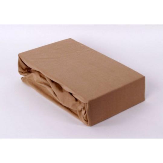 Jersey prostěradlo Exclusive - bežová 160x200 cm varianta bežová