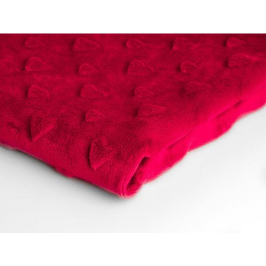 MINKY SRDÍČKA  barva červená 29