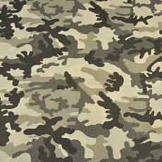 Bavlnená látka vzor moro béžový a hnedý, metráž 160 cm
