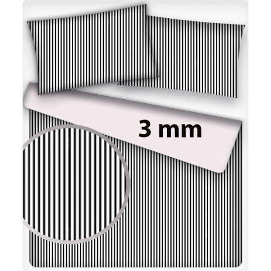 Bavlněné látka vzor PROUŽEK ČERNÝ MINI  3 mm