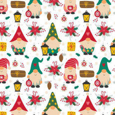 Vánoční dekoráční bavlněné látky vzor VÁNOCE 52 na bílém