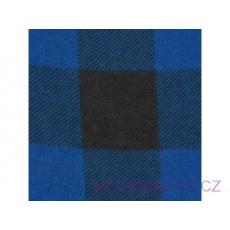 Flanelová látka černé-modrá 4x4 cm 760  šíře 160 cm