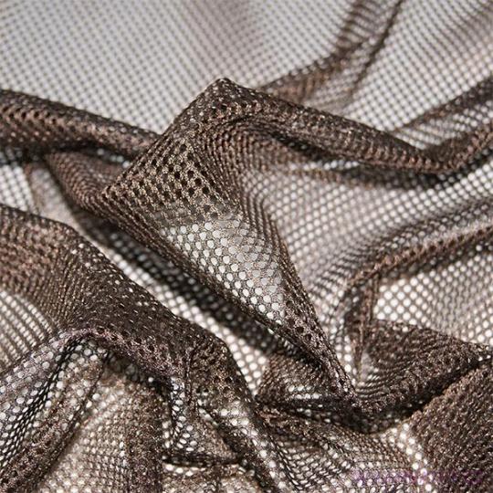 Síť polyesterová, Síťovina pro oděvů hnědá - DZ-008-134  2mm x 2mm