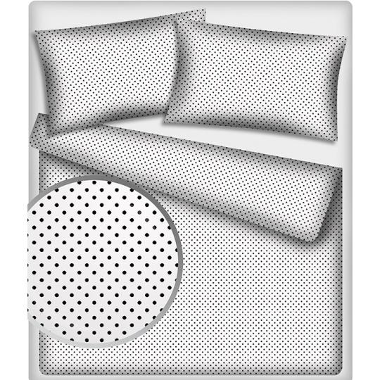 7 mm Bavlněné látky vzor Puntík černý na bílém