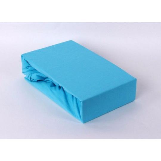 Jersey prostěradlo dvoulůžko Exclusive - modrá 180x200 cm  varianta modrá