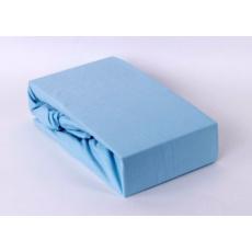 Exclusive Jersey prostěradlo - modrá 140x200 cm varianta modrá světlá