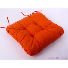 3 Sedák uni varianta oranžová  40x40x5cm