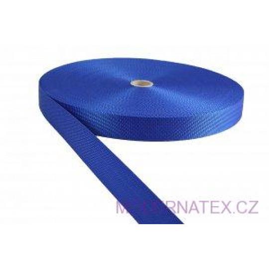 Polypropylénový popruh 25 mm haber modrý (balení 50 m)
