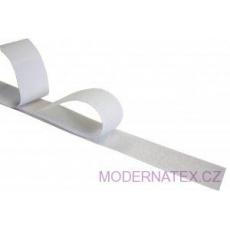 Pásek na suchý zip s lepidlem bílý 100  mm