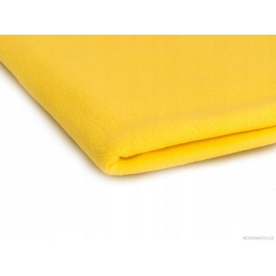 Látka Micro fleece barva žlutá 25